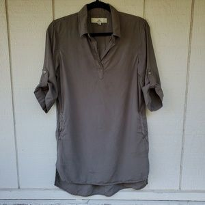 Thread & Supply Olive Shirt Dress size Small